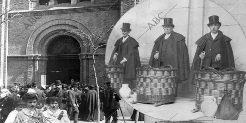 El día que el Rey lavaba los pies a los pobres en Palacio - Archivo ABC