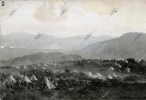 Vista general del campamento de Annual