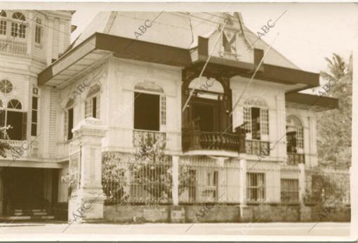 La casa del general Emilio Aguinaldo, con el histórico balcón desde el que proclamó la independencia de Filipinas