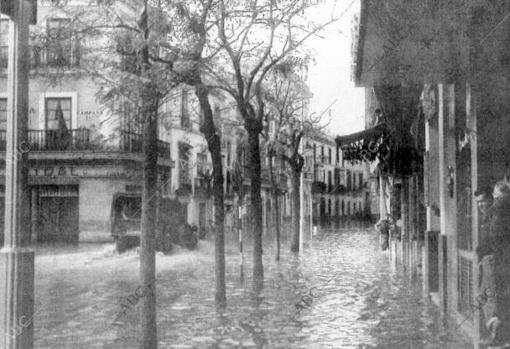 Inundación en Sevilla