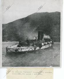 Santiago de Cuba (Cuba), 03/07/1898. Guerra de Cuba. La escuadra del almirante Cervera sucumbe ante la escuadra norteamericana del almirante Sampson.