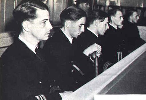 Los acusados, durante el juicio