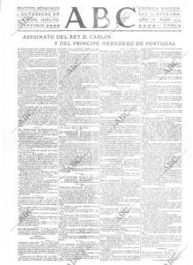 Noticia del regicidio al día siguiente de producirse, en 1908