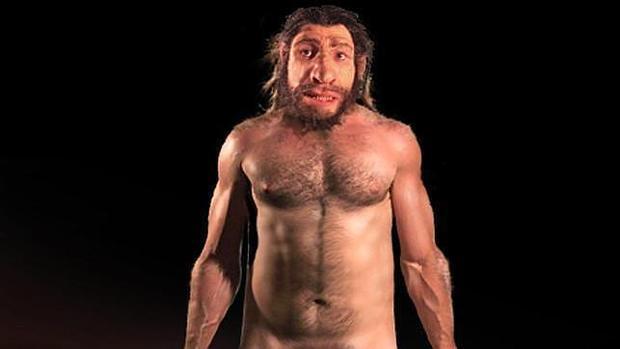 Recreación de un neandertal en el Museo de Historia Natural de Nueva York