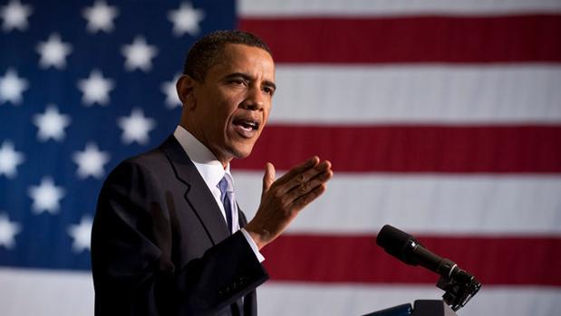 Barack Obama, en una conferencia sobre el futuro del espacio en el «Kennedy Space Center», en Cabo Cañaveral (Florida) en 2015