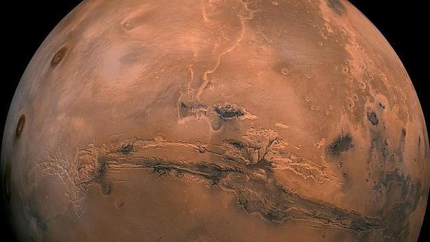 Imagen de Marte tomada por el satélite Hubble
