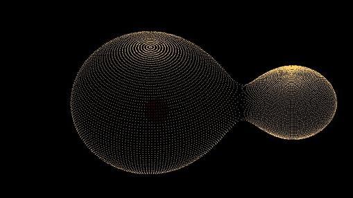 Sistema estelar KIC 9832227. La estrella más grande es un 40% mayor que el Sol