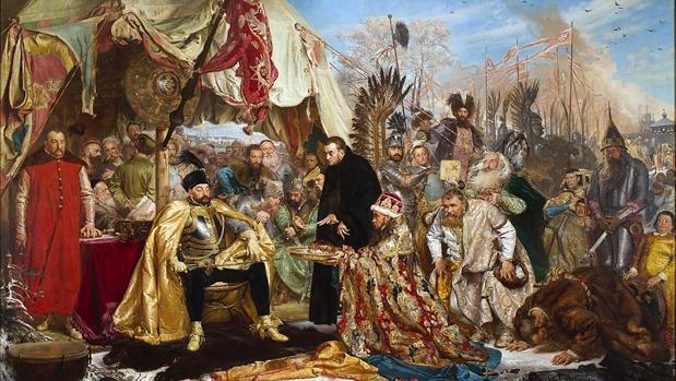 Un príncipe polaco recibiendo honores. Desde que el hombre dejó la caza y la recolección, la riqueza comenzó a acumularse y a transmitirse, generando desigualdad