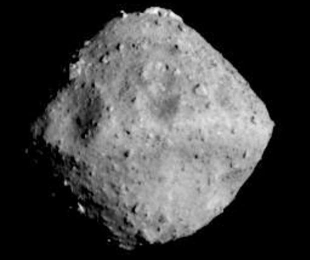El asteroide Ryugu, fotografiado hace unos días por Hayabusa 2 a 40 km de distancia