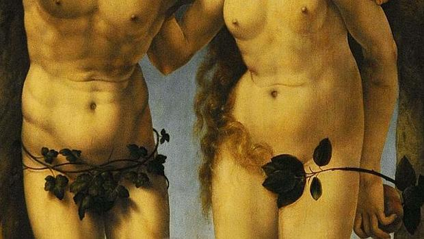 «Adán y Eva», de Jan Gossaert, en la National Gallery de Londres