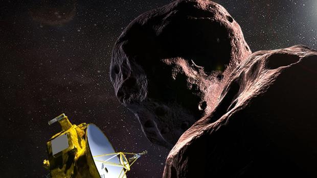 Representación del vuelo de la sonda «New Horizons» por las proximidades de Ultima Thule