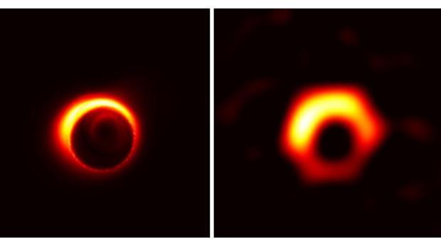 Resultado de imagen de Por primera vez en la Historia, tenemos una imagen de un agujero negro