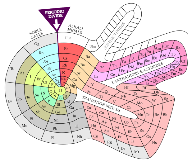 Tabla espiral de Theodor Benfey's (1964).