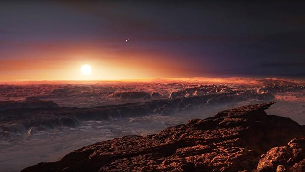 Imagen de cómo podría ser la superficie de Próxima b, el exoplaneta más cercano a la Tierra