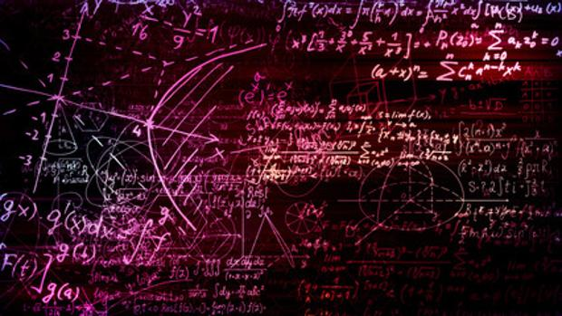 Fórmulas matemáticas en una imagen de archivo