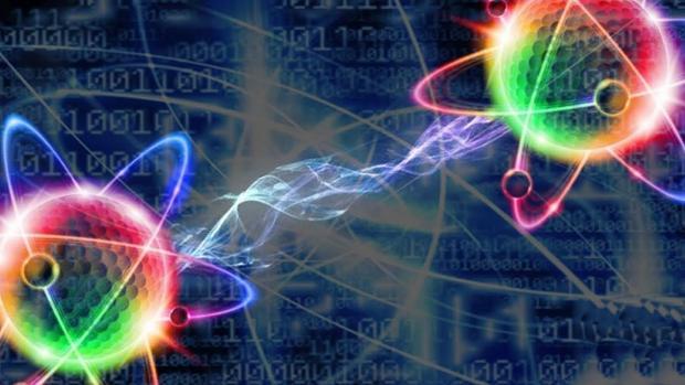 """Cuando dos partículas están entrelazadas, todo lo que le suceda a una será inmediatamente """"sabido"""" por la otra, que reaccionará de forma instanténea sin importar la distancia que las separe"""