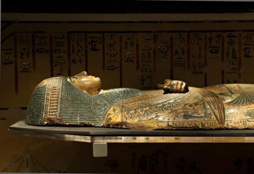 El sarcófago de 3.000 años de Nesyamun, en el Museo de la Ciudad de Leeds