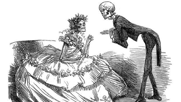 «El vals del arsénico» (1862), de John Punch John Leech, muestra los riesgos de vestir ropa teñida de arsénico
