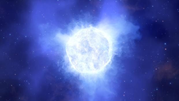 La ilustración muestra cómo podría haber sido la estrella en Kinman antes de su desaparición