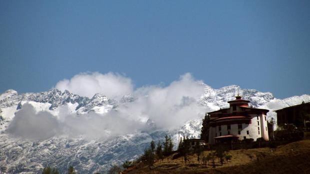 El Ta Dzong con vistas al valle de Paro, en el oeste de Bhután