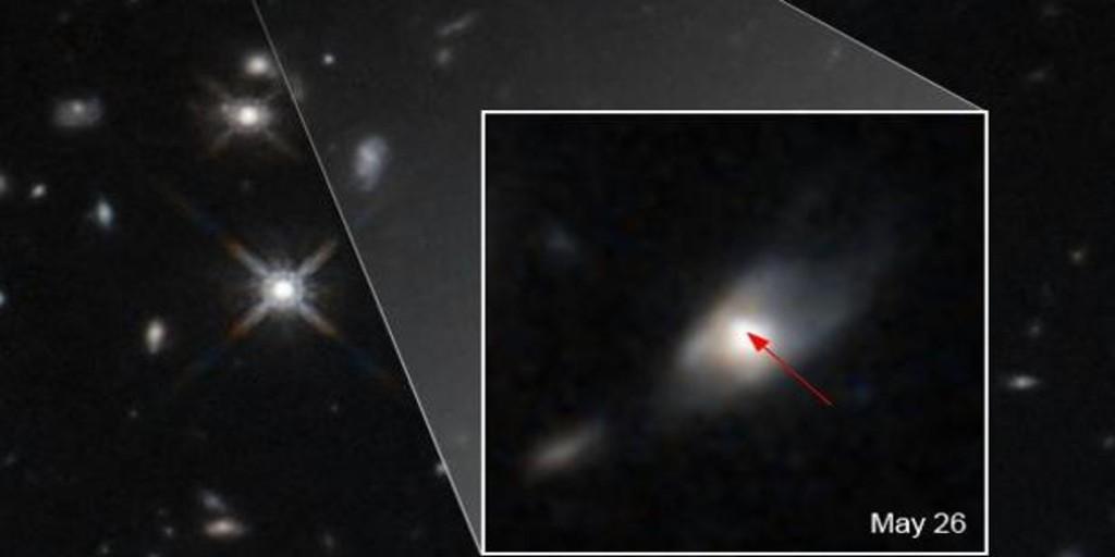 El Hubble capta un «brillo inexplicable» procedente de una enorme explosión  de rayos gamma