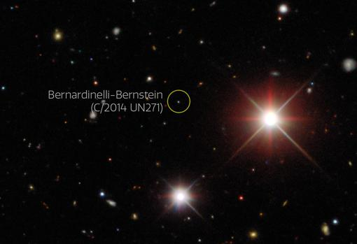 Imagen de descubrimiento del Cometa Bernardinelli-Bernstein