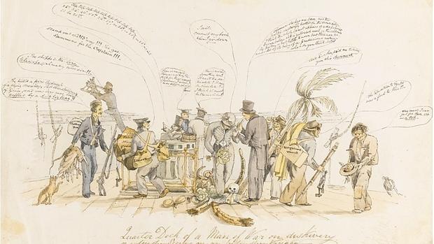 La acuarela, obra de Augustus Earle