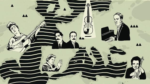 El piano ruso de Richter, el violín israelí de Perlman, la España de Morente, y la América de Dylan