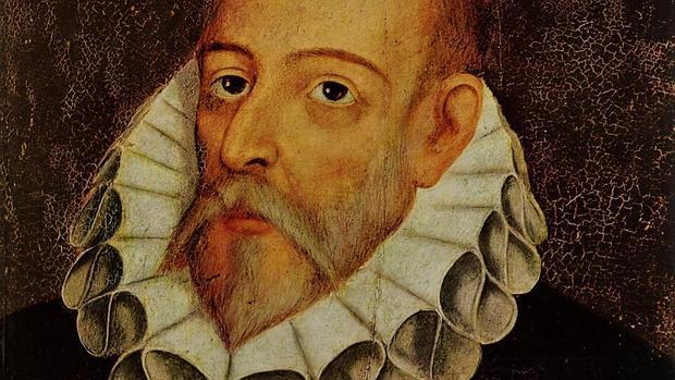 Retrato de Miguel de Cervantes, pintado por Juan de Jáuregui y Aguilar