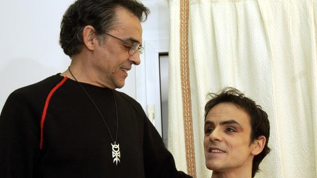 Goyo Montero y su hijo en 2003