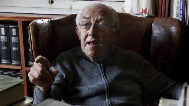 El filósofo Gustavo Bueno en una entrevista a ABC