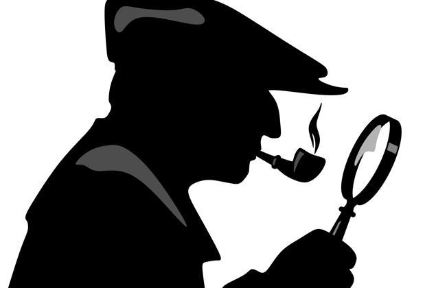 Silueta de Sherlock Holmes, uno de los personajes que ha vuelto a la vida