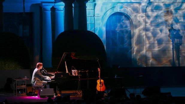 Rufus Wainwright, anoche durante su actución en Barcelona
