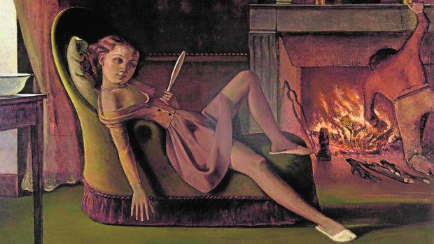 «Los días felices» (1944-1946), de Balthus. Smithsonian, Washington, D. C.