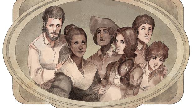 Recreación de personajes rescatados del olvido para el archivo digital «La Florida»