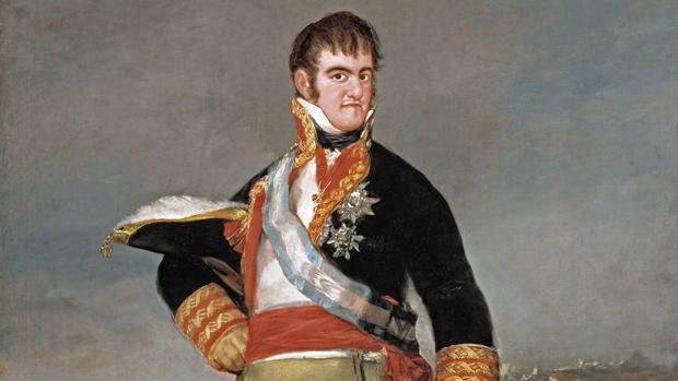 Fernando VII retratado por Francisco de Goya (detalle)