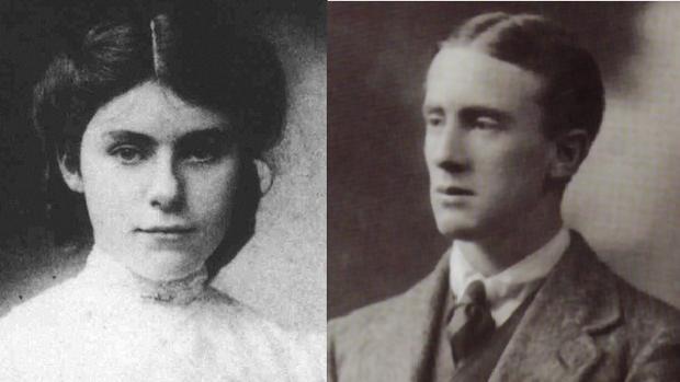 Retratos de juventud de Edith y J. R. R. Tolkien