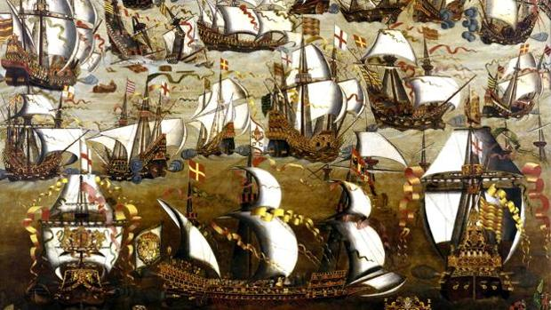 La batalla naval entre la Armada española y la flota inglesa