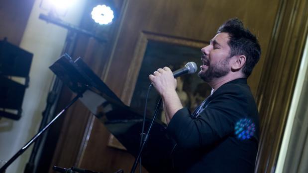 Miguel Poveda, durante la presentación de su disco