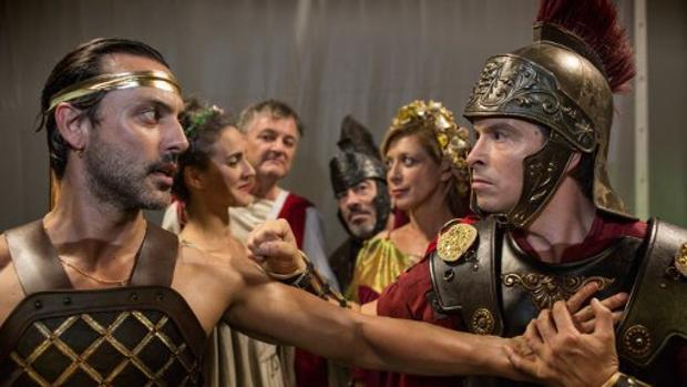 Los protagonistas de la versión de «Ben-Hur» de Yllana
