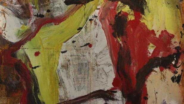 Una de las obras de Willem de Kooning encontradas en el almacén