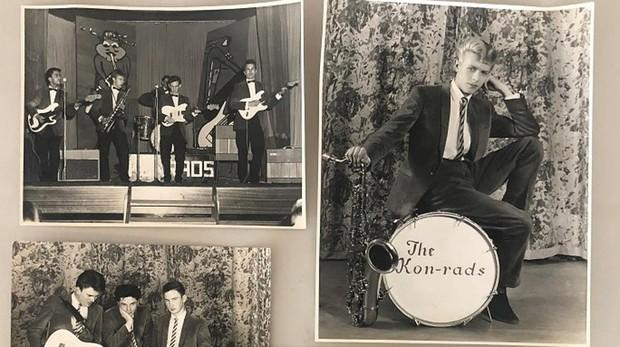 David Bowie durante su paso poa The Konrads