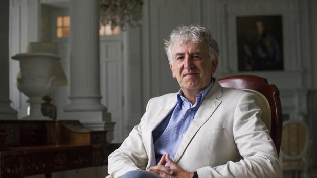 El paleontólogo Juan Luis Arsuaga durante la entrevista