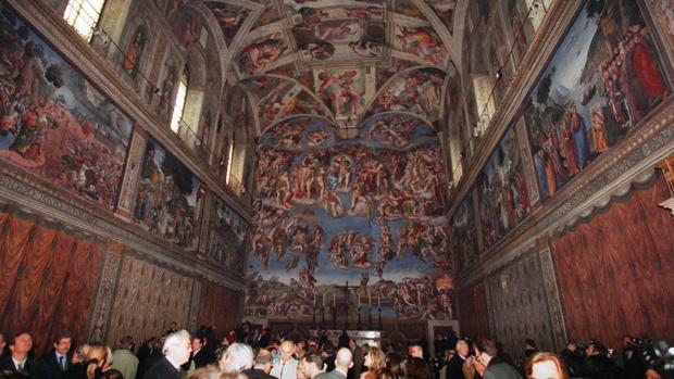 Los Museos Vaticanos (en la imagen, la Capilla Sixtina) acogen cada año a más de seis millones de visitantes