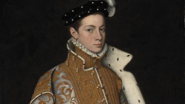 Un joven Alejandro Farnesio, III duque de Parma
