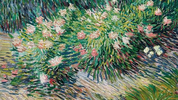 «Coin de jardin avec papillons», de Van Gogh