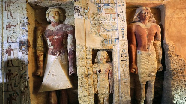 Vista del interior de la tumba de Wahtye