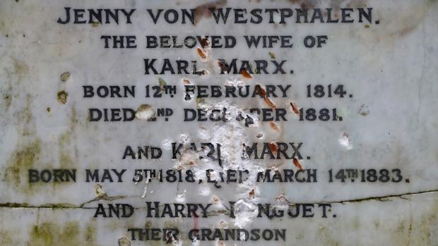 La tumba de Marx, en el cementerio londinense de Highate