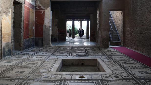 Una de las domus reconstruidas en Pompeya