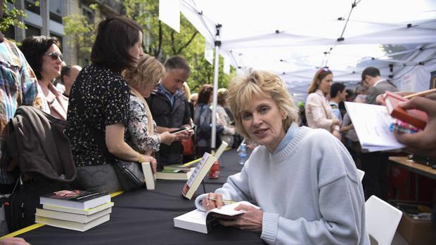 Siri Hustvedt en el día del libro en Barcelona